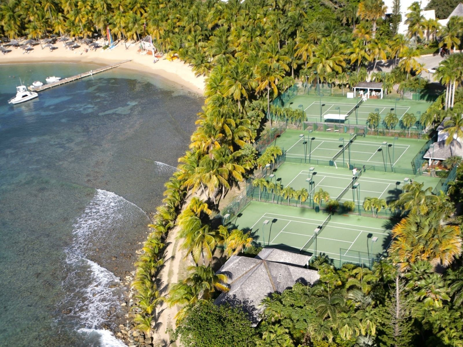 Curtain Bluff - one of the best tennis resorts for your tennis holidays in Antigua