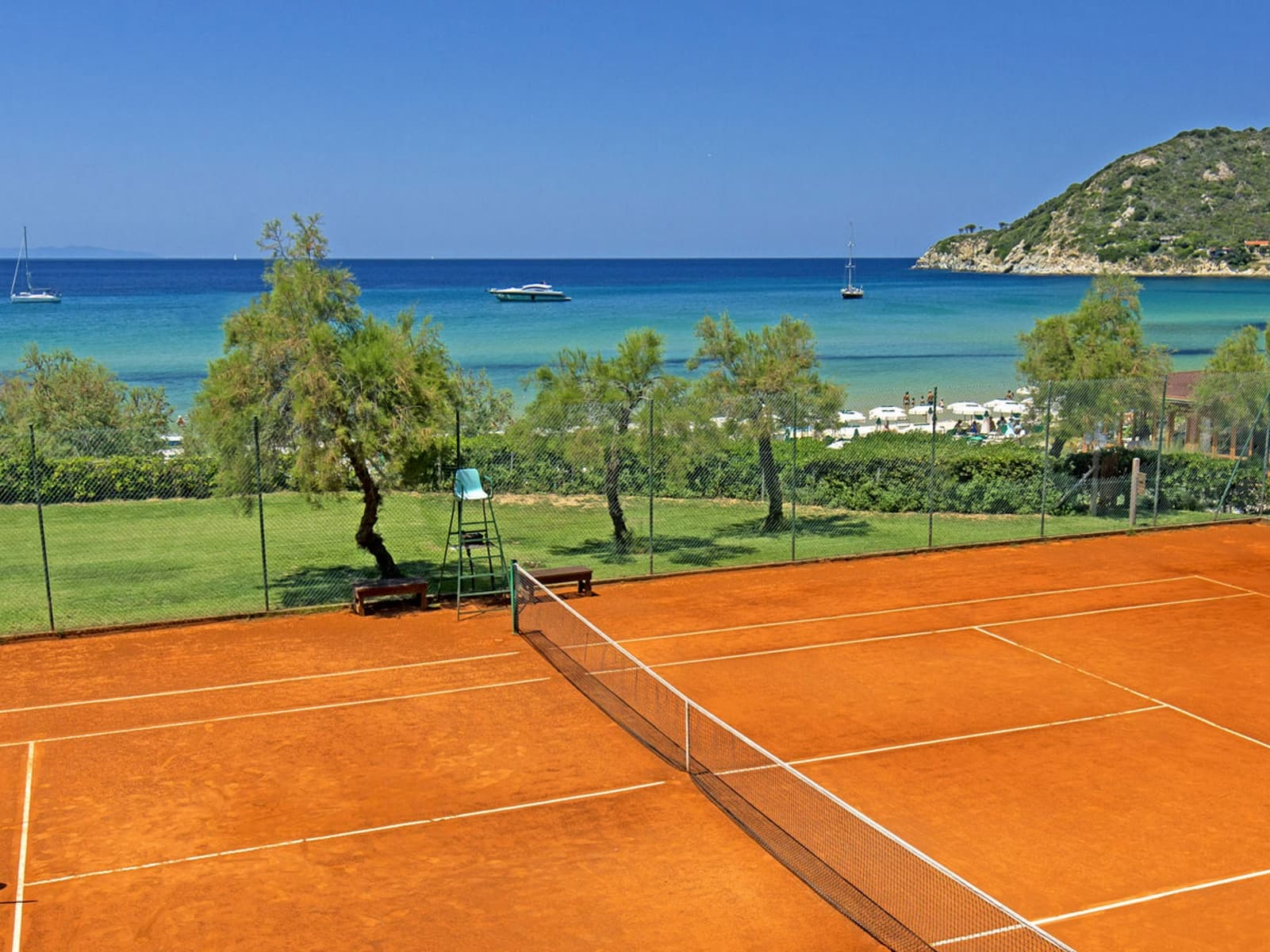 Hotel Hermitage Isola Italy - one of the best tennis resorts for your tennis holidays in Portoferraio