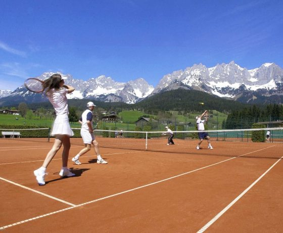 Mountainside tennis hotel in Austria (Stanglwirt Hotel)