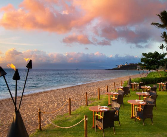 Restaurants & Bars - Maui Sunset Hawaii - one of the best tennis resorts for your tennis holidays in Hawaii