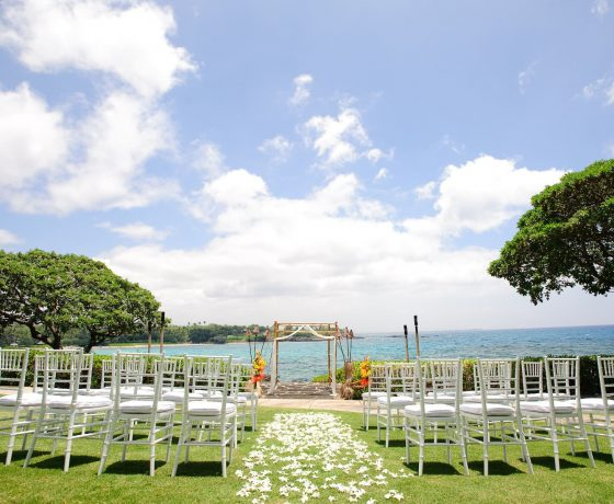 Wedding & Honeymoon - Mauna Kea Beach Hotel Hawaii - one of the best tennis resorts for your tennis holidays in Hawaii