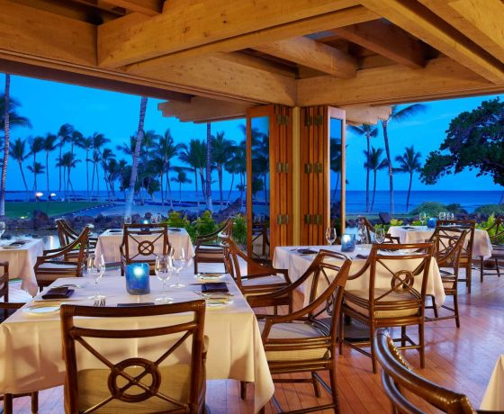 Restaurants & Bars - The Mauna Lani Bay Hotel & Bungalows - one of the best tennis resorts for your tennis holidays in Hawaii