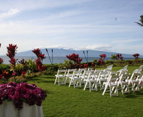 Wedding & Honeymoon - The Royal Lahaina Resort - one of the best tennis resorts for your tennis holidays in Hawaii