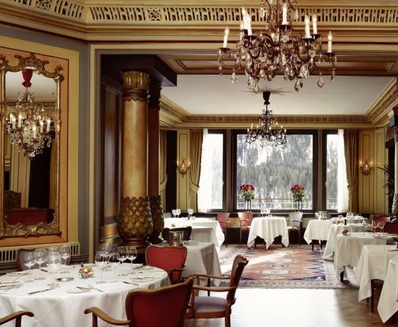Restaurants & Bars - Gstaad Palace Hotel Switzerland - one of the best tennis resorts for your tennis holidays in Switzerland