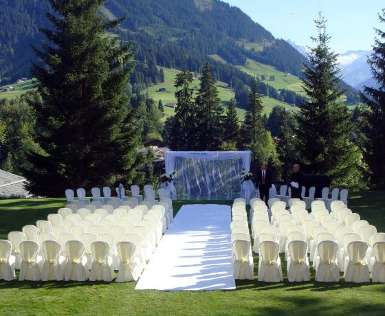 Wedding & Honeymoon - Gstaad Palace Hotel Switzerland - one of the best tennis resorts for your tennis holidays in Switzerland